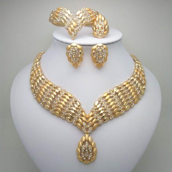 Diamond Rings Sale Dubai: 2019 Fashion African Dubai Gold Jewelry, Women African