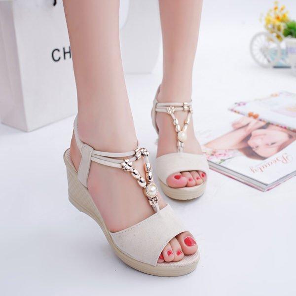 summer slip on sandals
