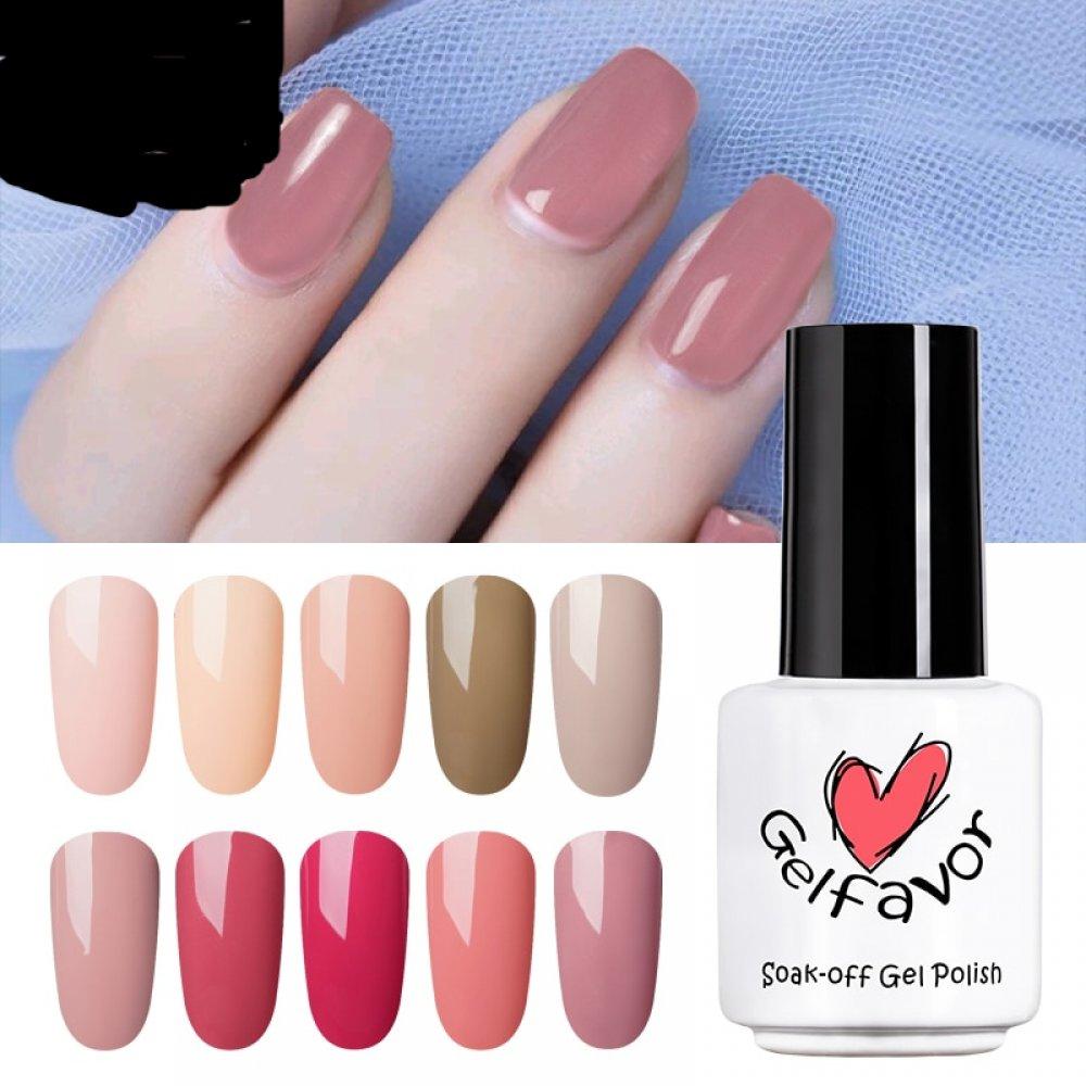 HNM Gel Polish 8ml Nude Color Gel Nail Polish UV GelLak