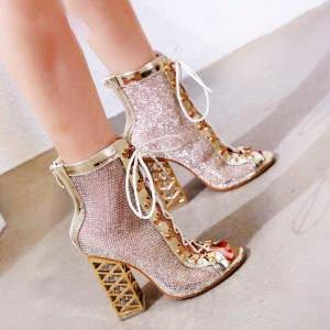 new 2020 summer sandal sexy golden bling gladiator