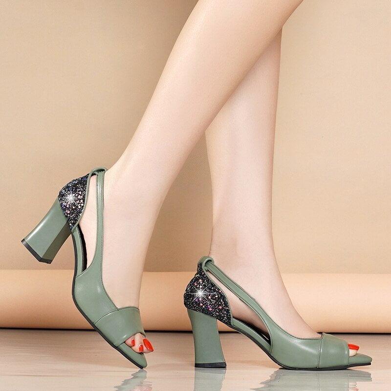 JAYCOSIN 2020 Summer New Rhinestone Sandals Women Big Size