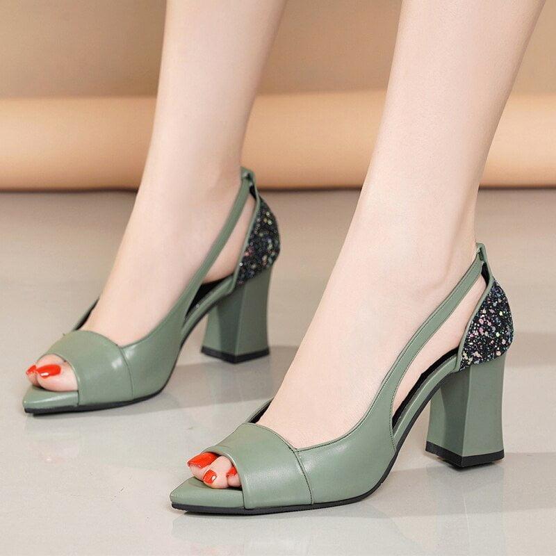 Thick High Heels Sandals , Women 2020