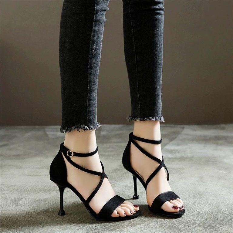 Fashion New Womens High Heels Thick Heeled Shoes Platform
